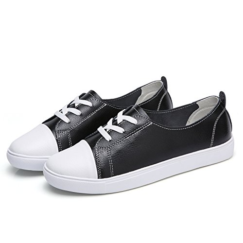 HGTYU Choo Leisure With A Flat Base Single Shoes Round Head Female The Tether Strap Light One Foot Step The Lazy Bones Shoes Black cCVqnX