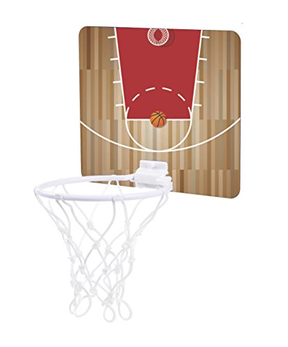 Basketball Court Design - Unisex Childrens 7.5'' x 9'' Mini Basketball Backboard - Goal with 6'' Hoop by Jacks Outlet