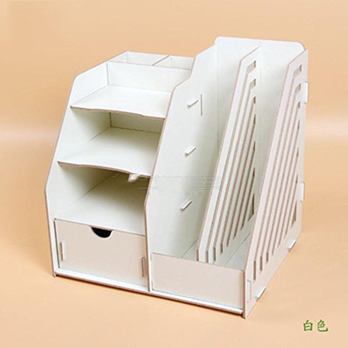 - XUEXIN Office desktop storage boxes office supplies file racks creative bookshelves data frame wood books shelves , c