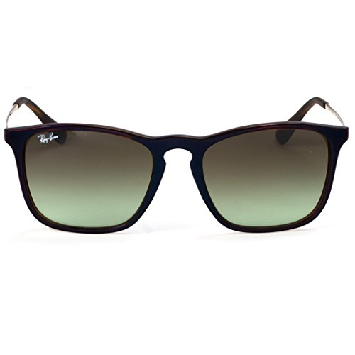 Ray-Ban RB4187 Authentic Chris Sunglasses with Gold Temple. Color - And Black Wayfarers Ban Gold Ray