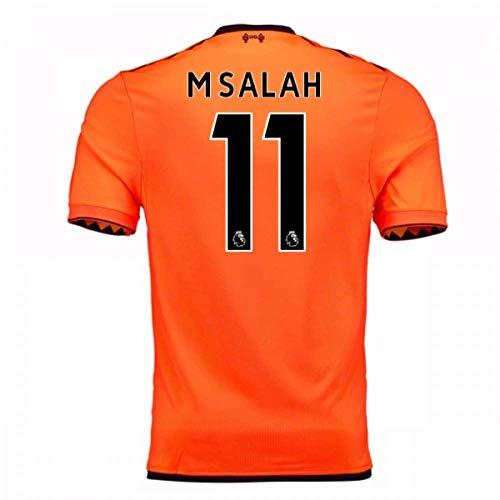 (2017-18 Liverpool Third Football Soccer T-Shirt Jersey (Mohammad Salah 11) - Kids)