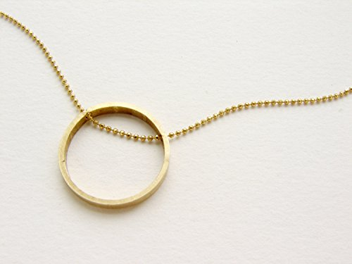 Infinity Circle necklace, infinity jewelry woven chain circle necklace, modern circle necklace, brass jewelry simple everyday necklace