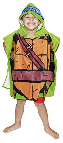 Nickelodeon Teenage Mutant Ninja Turtles Leonardo Hooded Bath Towel Poncho]()
