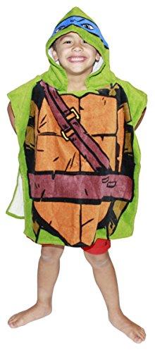 Nickelodeon Teenage Mutant Ninja Turtles Leonardo Hooded Bath Towel Poncho ()