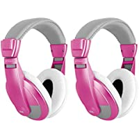 Favor 2) NEW VM Audio SRHP15 Stereo MP3/iPhone iPod Over the Ear DJ Headphones - Pink cheapest