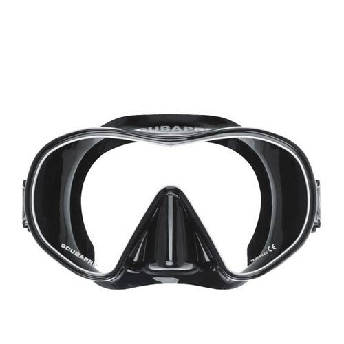 Scubapro Scuba Diving Solo Mask, Black/White