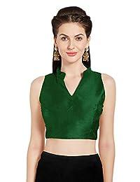Women's Art Silk Readymade Saree Blouse Sleeveless Choli Mirchi Fashion Top