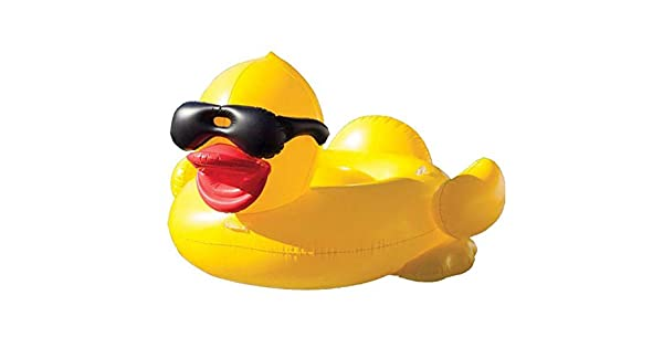 Amazon.com: Giant Inflable Rhubarb Pato Flotante Fila ...
