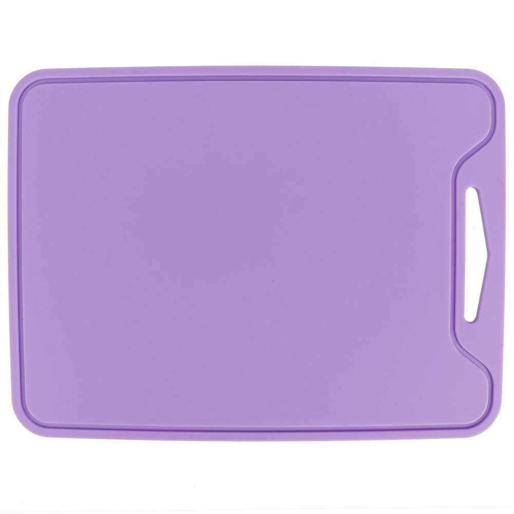Tabla de cortar flexible de silicona Alinory de grado alimenticio Tabla de cortar para uso dom/éstico de cocina P/úrpura