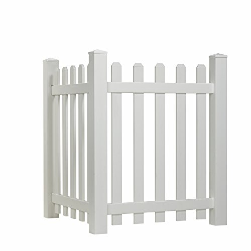 Outdoor Essentials Picket Accent Fence with Dog Ear Shaped Cap (Fencing To Hide Air Conditioners compare prices)