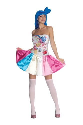 Rockstar Costumes For Adults (Katy Perry Secret Wishes Candy Girl Costume, Multi, X-Small)