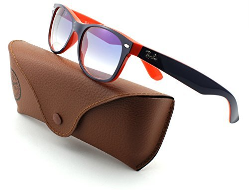 Ray-Ban RB2132 New Wayfarer Blue Orange Frame/Crystal Gradient Light Blue Lens 789/3F, - Ray Sunglasses Ban Transition