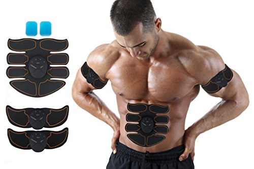 UPKNOW ABS Stimulator Muscle Toner, 6 Modes & 10 levels AB Belt Flex Belt for Arm, Belly And Thigh Flab Training Men Women For Sale