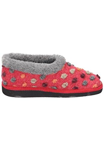 Pantofola Da Donna Casa Manitu Rosso 340200-4 Rosso