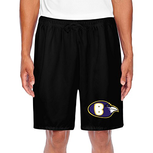 (CGH Seven Baltimore Football Ravens Men's Performance Shorts Sweatpants With Pocket Size3X Black)