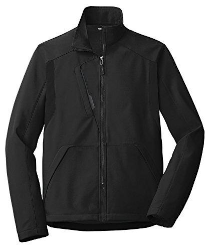 Joe's USA - Tech Inspired Soft Shell Jacket - XL - Black/Black