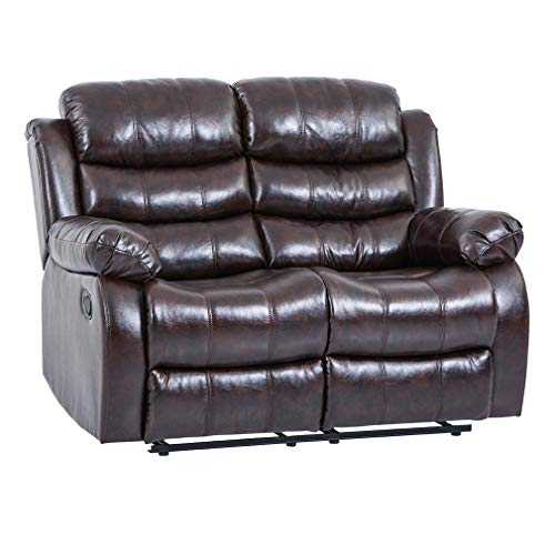 Recliner Sofa Love Seat Reclining Couch Home Theater Seating Sofa Leather Loveseat Manual Recliner Motion for Living Room