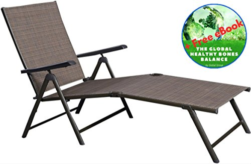 Adjustable Pool Chaise Lounge Chair   Folding Recliner All Weather Outdoor  Garden Patio Furniture