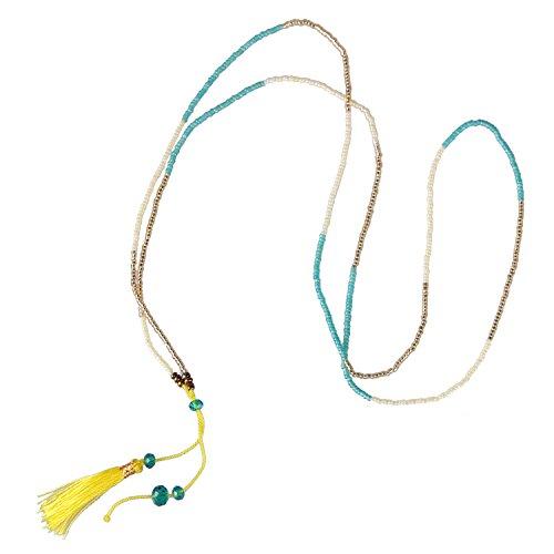 KELITCH Choosable Crystal Tassels Necklace