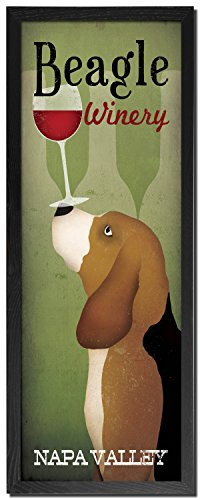Popular Beagle Winery Napa Valley Panel by Ryan Fowler; One 8x20in Black Framed Print -  Wild Apple
