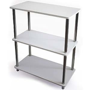 Estantería tres niveles tablero conglomerado 60 x 30 x 76 cm