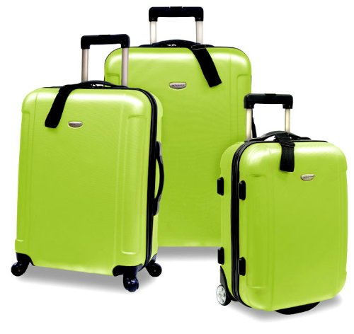 Traveler's Choice Freedom 3-Piece Lightweight Luggage Set, Apple Green (20'/25'/29')
