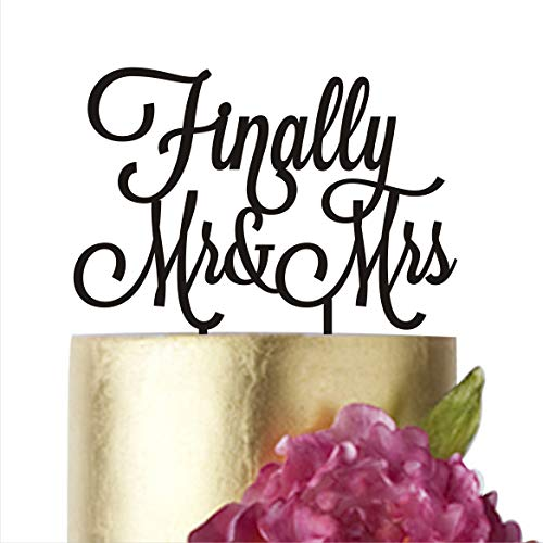 Finally Mr Mrs Acrylic Cake Topper For Wedding Engagement Bridal Shower Cake Decorations Hatcher lee White