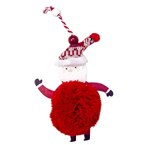 zhenleisier Christmas Decoration,Christmas Fluffy Santa Snowman Ornament Pendant Xmas Tree Window Hanging Home Holiday Party Bar Shop Carnival Decor Old Man