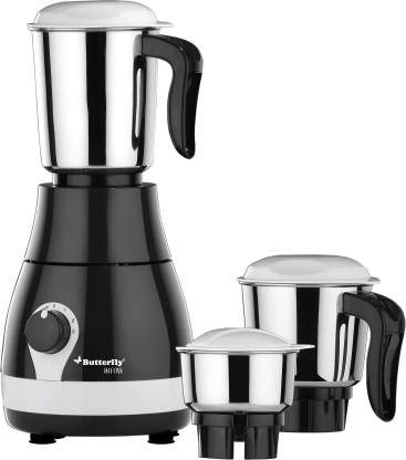 Butterfly Arrow 500 W Mixer Grinder (Grey, 3 Jars)