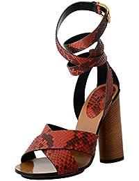 Python Skin High Heel Wrap Around Sandals Shoes