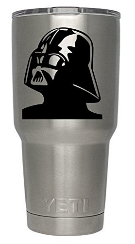 Darth Vader Decal for Yeti Tumbler Ozark Trail Arctic Tumber decal Black or White Decals 4