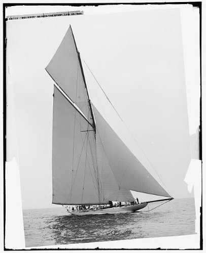 (Infinite Photographs Photo: Reliance Before Start,Yachts,Regattas,Ships,America's Cup Races,Sailing,c1903 )