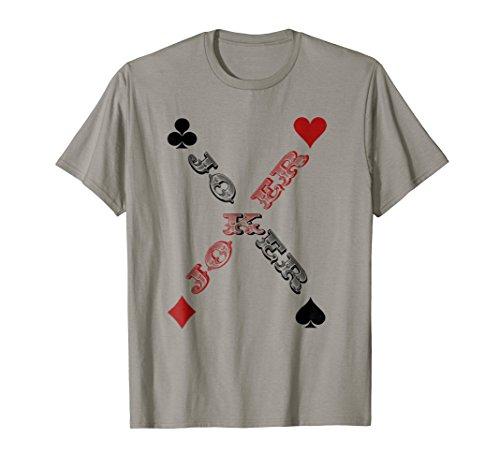 Playing Card T Shirt Joker Spades,Hearts,Diamonds and Clubs -