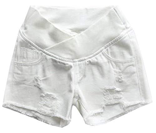Pantalones Vientre Con Jeans Cortos Mujeres Azul Mezclilla Maternidad Casuales Ajustados Moda De Del Banda Dama xwPBq5H85