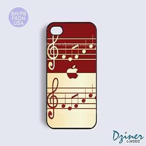 iPhone 4 4s Case - Piano Music Design iPhone Cover