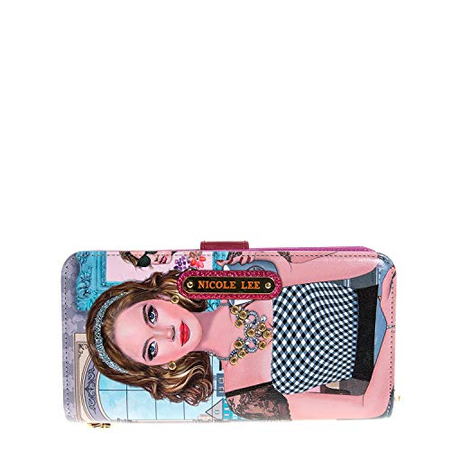 Color and Style Mini Clutch Wallet with Exclusive Print and Detachable Bracelet Wristlet and RFID Blocking (Ara Loves Morning Coffee)
