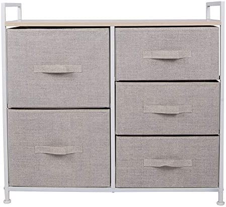 Polar Aurora 5 Drawers Dresser Wide Dresser Storage Tower