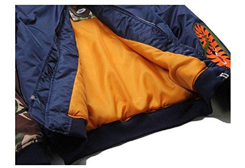 Felpa In Coat 3d Da Cotone Outerwear Cappotto Uomo Shark Blue Head Giacca a41q7vW