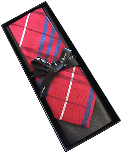 saks-fifth-avenue-striped-100-silk-mens-tie-3-wide-red-checkered