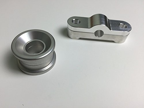 Two Piece Billet - 1320 Performance Solid 2 piece Front & Rear BILLET SHIFTER BUSHING COMBO B16 B18