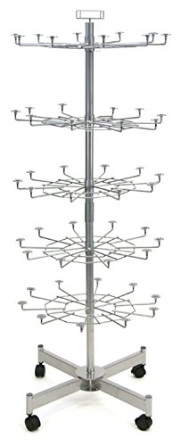 New Retail 5 Tier Animal Tamper Proof with Clothes Spinner Floor Rack -