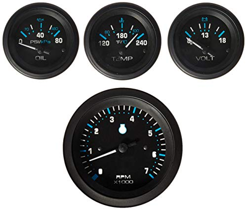Sierra International 69726P Eclipse Twin Engine Add On IB/IO Gauge Set Includes Tach, Oil Press & Water Temp Gauges ()