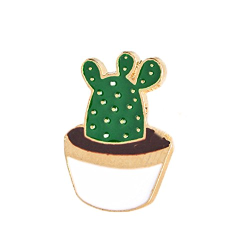 MANZHEN Cactus Palm Leaves Plant Tree Natural Lapel Pin Enamel Brooch Collar Pins (cactus-2) -