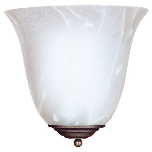 Sea Gull Lighting 4108-71 Costa One-Light Wall Sconce, Antique Bronze Finish with Nuage Cream - Mar Costa Glasses Del