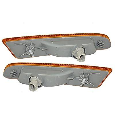 Pair Set Signal Side Marker Lights Lamps Replacement for Lexus 02-03 ES300 & 04-06 ES330 81741-33021 81731-33021 AutoAndArt: Automotive