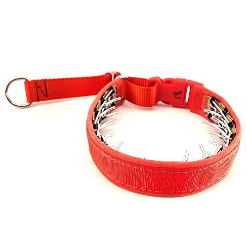 Keeper Collar Hidden Prong with Snap Red (16)