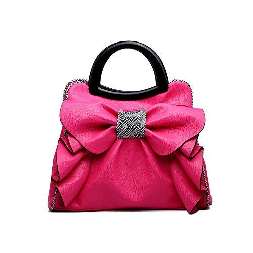 Handbag Bow Bag Simple New darkred Bag Woman Messenger Bag YXLONG Shoulder Beautiful Lady Sweet nRS0wqwz