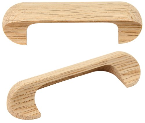 Oak Drawer Pull (825611, Hardware, Decorative, Wood Pulls & Knobs, 96mm C/C Handle Oak)
