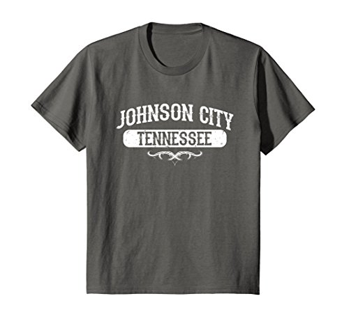 Kids Johnson City Tennessee T Shirt 12 Asphalt