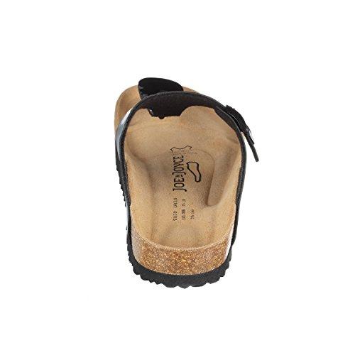 Black N JOE Rio Patent Fußbett JOYCE Sandalen Soft pqPAYTq